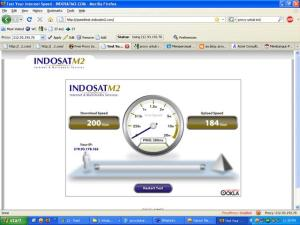 Speedtest Indosat IM2 Broadband